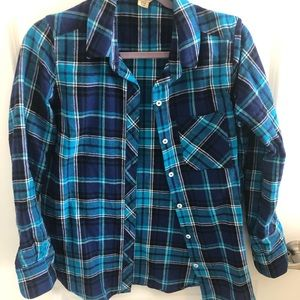 Tops - Blue Flannel Long Sleeve